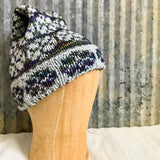 Purple and Gray Brimmed Hat