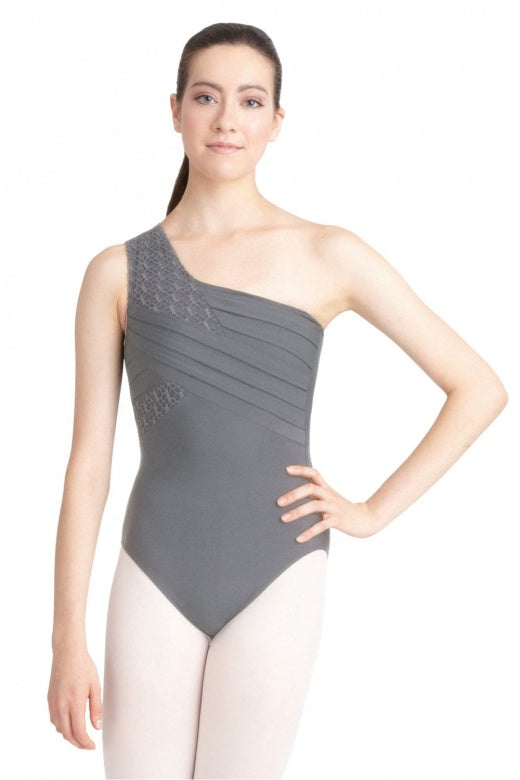 Capezio One Shoulder Pleated Front Leotard