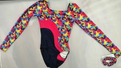 Mondor Geometric Long Sleeve Leotard