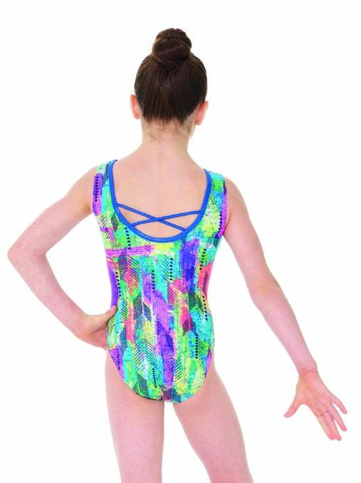 Mondor Hieroglyph Sleeveless Gymnastic Leotard