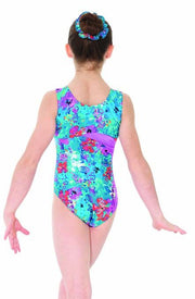 Mondor Secret Garden Sleeveless Gymnastics Leotard