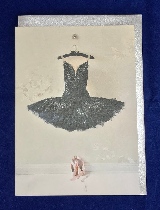 Swan Lake Black Swan Hand Finished Card