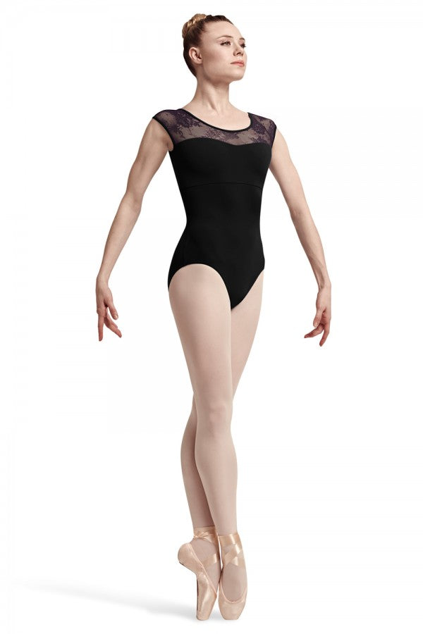 Bloch Hava Floral Cap Sleeve Leotard