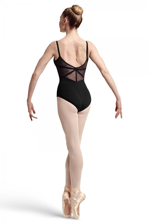 Bloch Eyal Lace & Ribbon Back Camisole Leotard