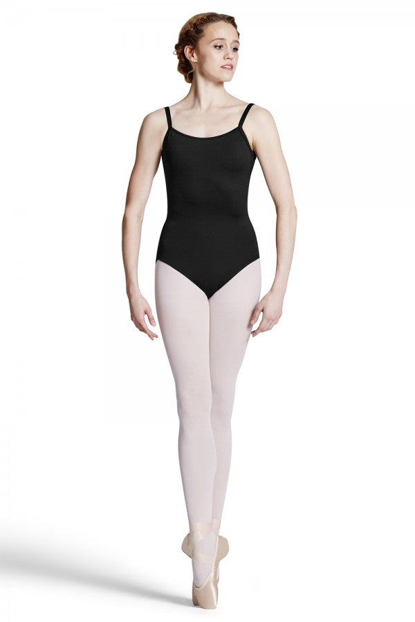 Bloch Allnat Camisole Leotard with Mesh Cross Back