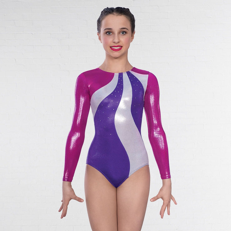 1st Position Megan Diamanté Long Sleeve Leotard