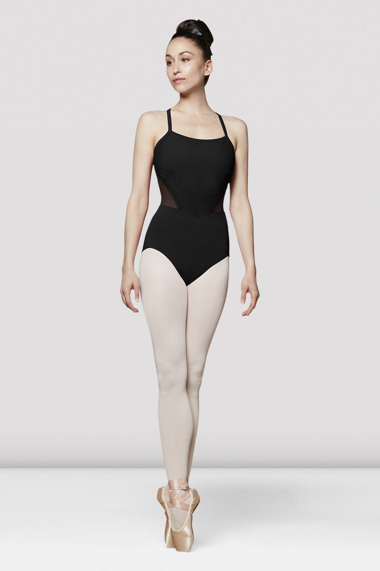 Bloch Flock Bodice Open Back Camisole Leotard