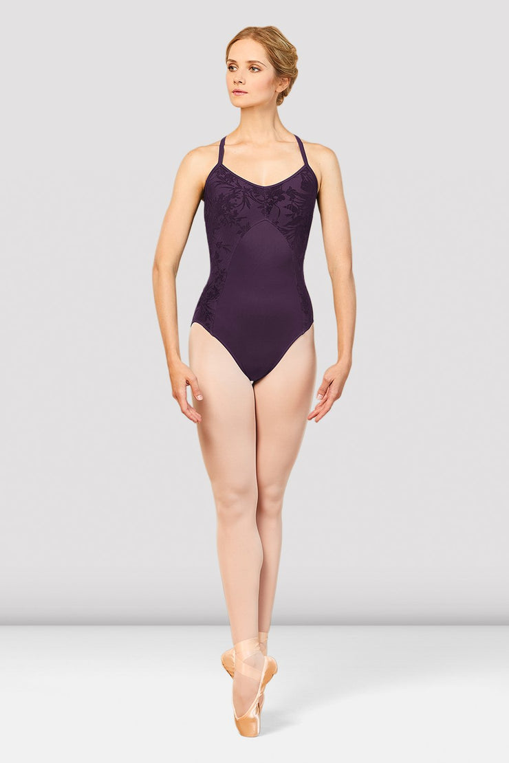 Bloch Dove Floral Mesh Camisole X Back Leotard