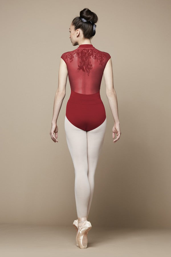 Bloch Flock Mesh Zip Front Leotard
