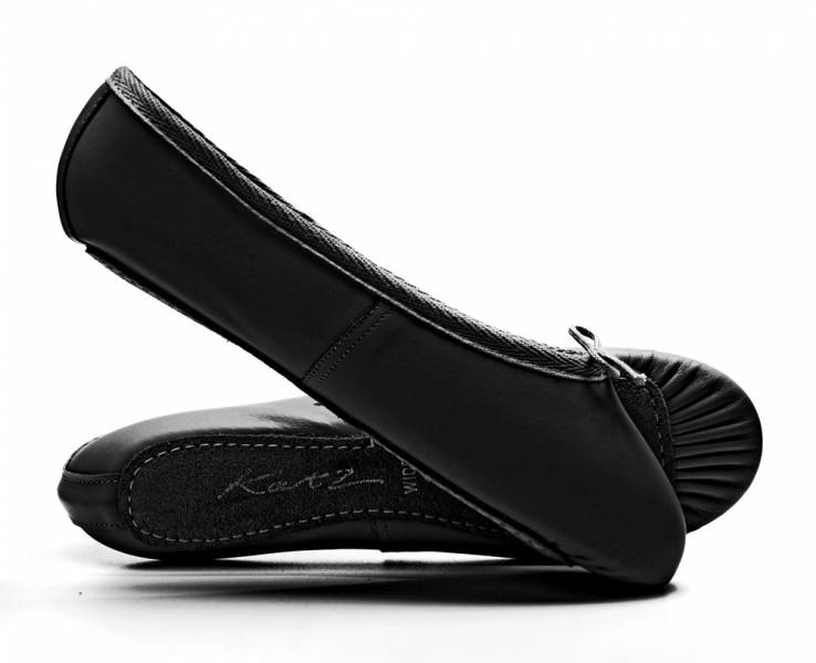 Katz Black Leather Ballet Shoe
