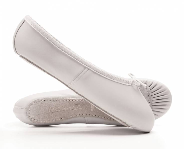 Katz White Leather Ballet Shoes