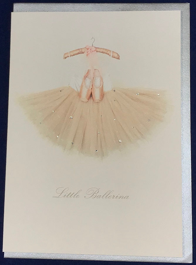 Little Ballerina Hand Finished Card