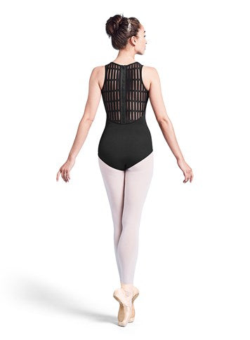 Mirella Sheer Ladder Back Zip Leotard