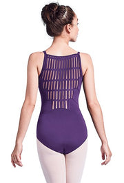 Mirella Sheer Ladder High Back Camisole Leotard