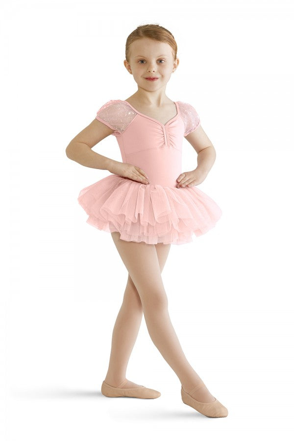 Mirella Sequin Butterfly Cap Sleeve Tutu Leotard