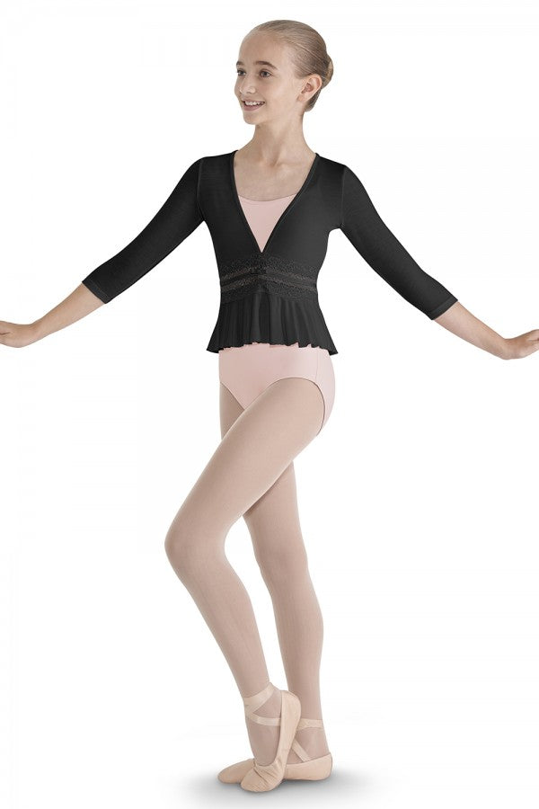 Bloch Bow Lace Waist Front Top