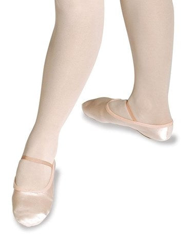 Roch Valley Wide Fit Pink Satin Ballet Shoe