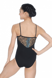 So Danca High Neck Lace Camisole Leotard