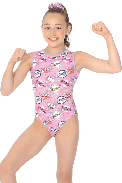 The Zone Comic Sleeveless Leotard