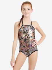 Capezio Foil High Neck X-Back Leotard