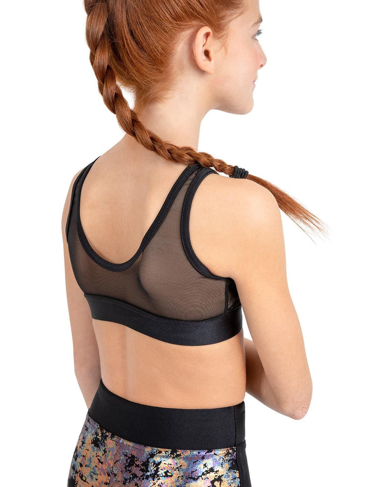 Capezio Gym Foil Tank Crop Top