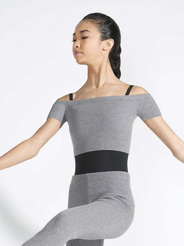 Capezio Knitted Cropped Sweater