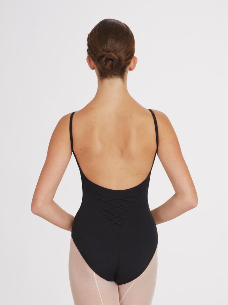 Capezio Princess Seam Lace Panel Leotard