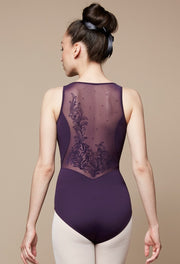 Bloch Flock Mesh Back Tank Leotard