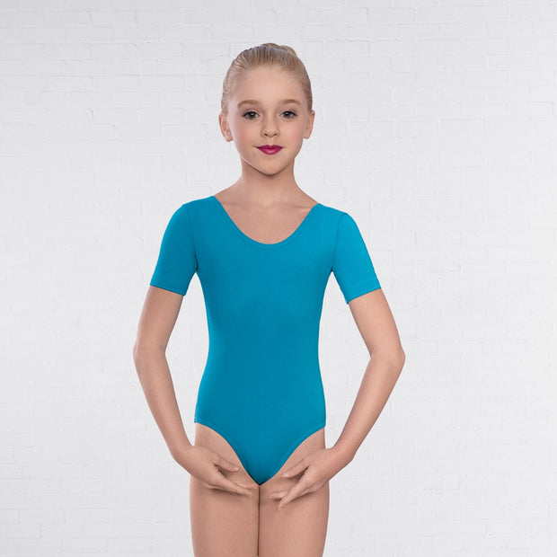 1st Position Marine Short Sleeve Leotard
