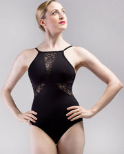 So Danca x Sarah Mearns Lace Inset High Neck Leotard