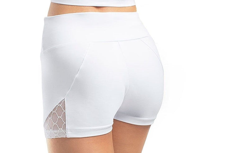 So Danca x Sarah Mearns Lace Inset High Waist Shorts