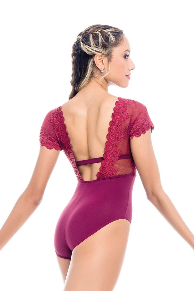 So Danca RDE-1961 Lace Top Cap Sleeve Leotard