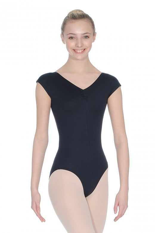 Roch Valley Black Arioso Cap Sleeve Leotard