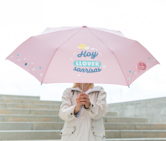 PARAGUAS MEDIANO MR. WONDERFUL- HOY TE VAN A LLOVER SONRISAS