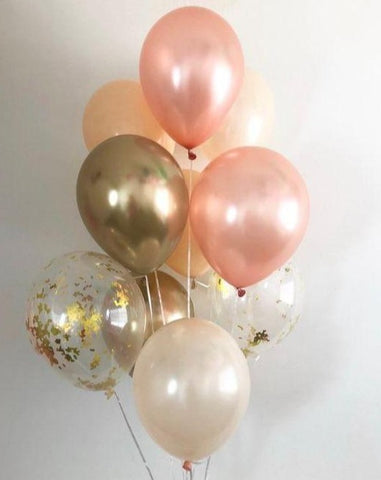 Rose gold and peach Balloon Bouquet