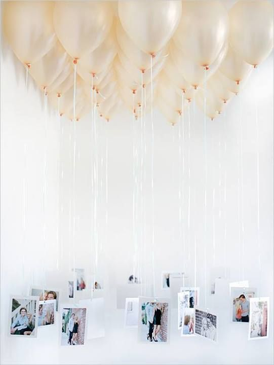 Helium balloons with printed photograhs