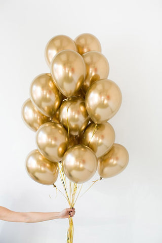 Pure Gold Balloon Bouquet