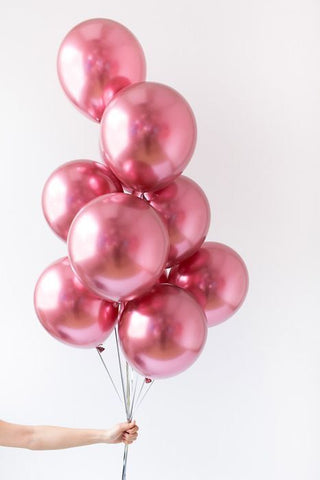Pink Chrome Balloon Bouquet