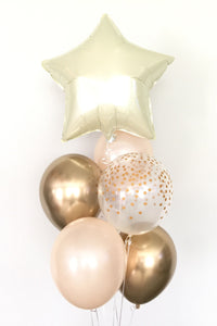 Pearl and Gold Balloon Bouquet