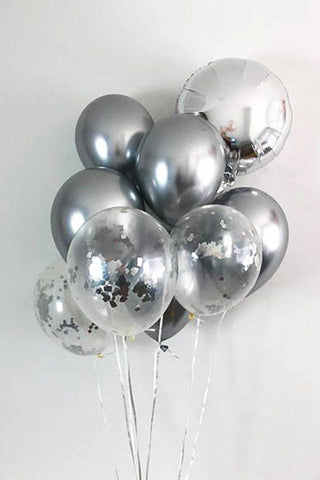 Silver family Balloon Bouquet