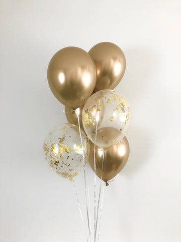 Go for Gold balloon bouquet