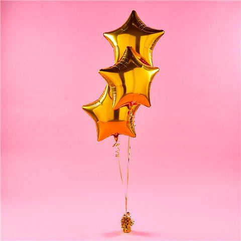 Gold stars Balloon Bouquet