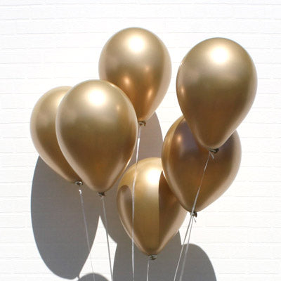 "11"" Golden Chrome Balloons"