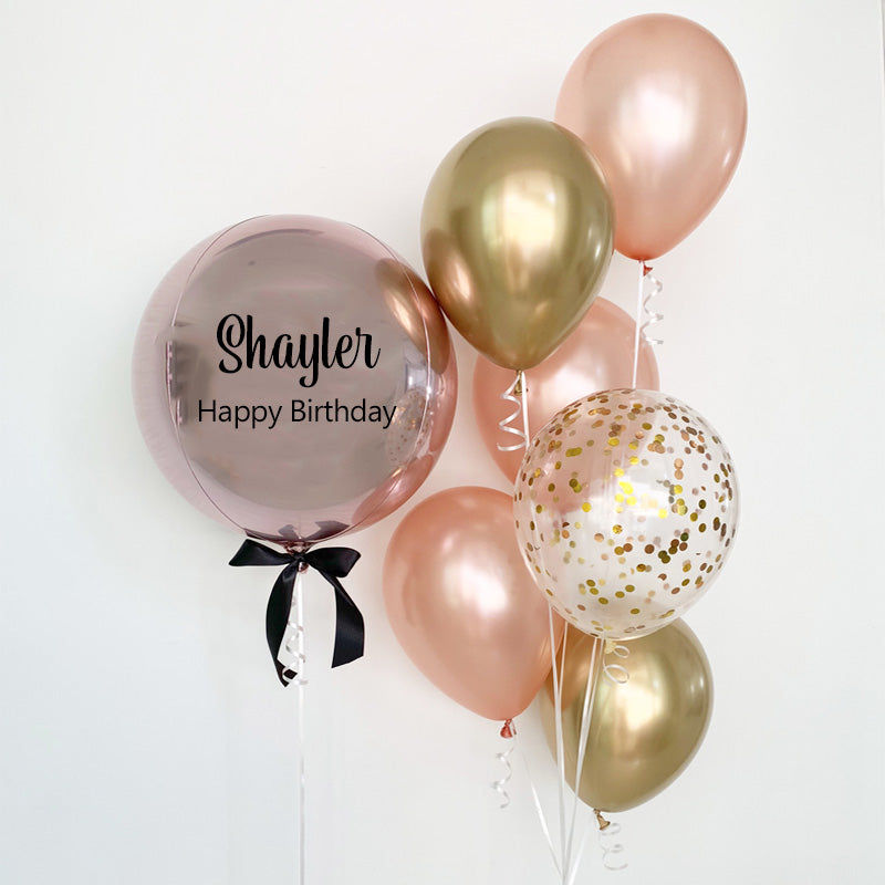 Personalized Orbz with Balloon Bouquet