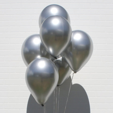 Silver Chrome Balloons Bouquet