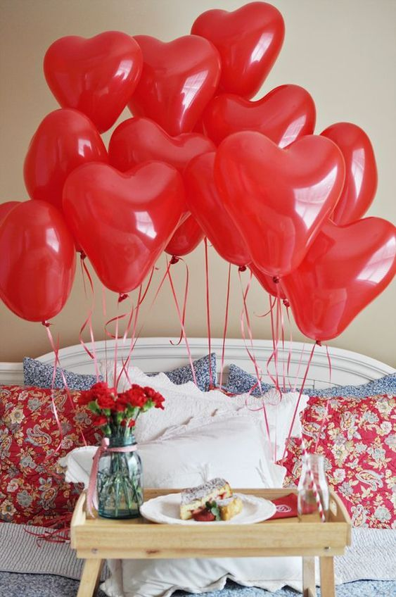 Latex heart balloons - Valentine's special