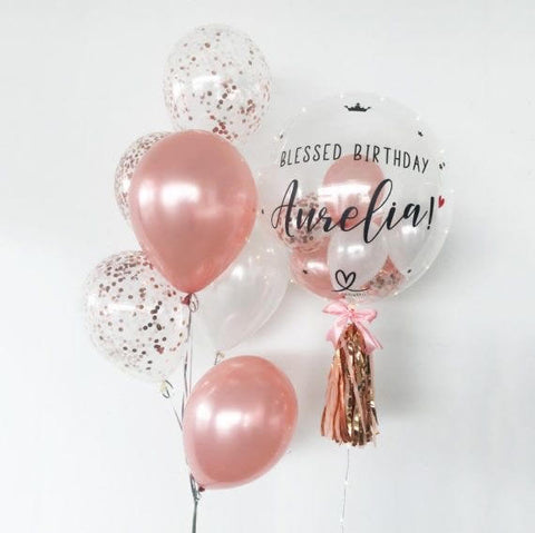 Customized bubble Balloon Bouquet
