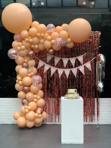 Happy Birthday Peach Blush Garland
