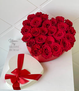 Heart shape Red Roses- Valentine's Exclusive