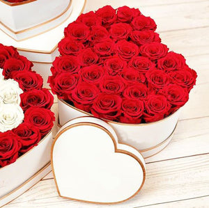 25 Red Roses Heart